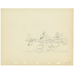 """Mickey's Fire Brigade"" Original Production Drawing."