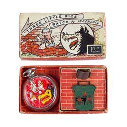 """Three Little Pigs"" Pocket Watch."
