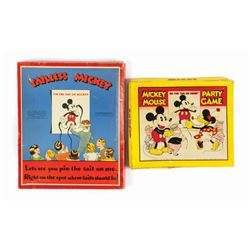 "Pair of ""Pin the Tail on Mickey"" Games."