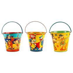 Collection of (3) Disney Character Sand Pails.