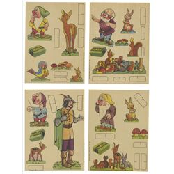 """Snow White and the Seven Dwarfs"" Cut-Out Cards."