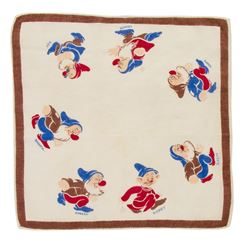 """Snow White and the Seven Dwarfs"" Handkerchief."
