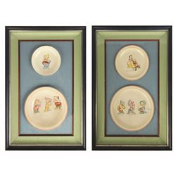 "Framed Set of Richard Ginori ""Snow White"" Plates."