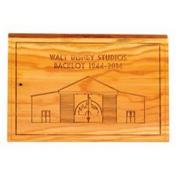 Walt Disney Studios Backlot Wooden Plaque.