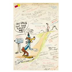 Walt Disney & Staff Signed Disney Studios Goodbye Gift.