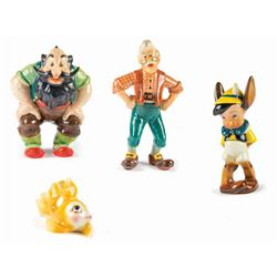 "Collection of (4) ""Pinocchio"" Figures by Zaccagnini."