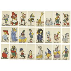 "Collection of ""Pinocchio"" Character Bread Cards."