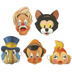 "Complete Collection of ""Pinocchio"" Character Masks."