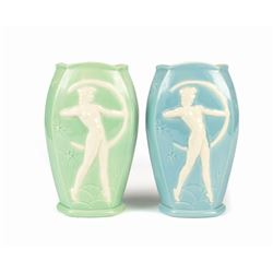 "Pair of Vernon Kilns ""Fantasia"" Vases."