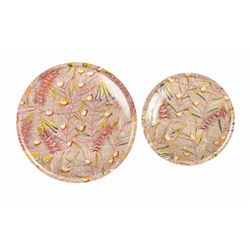 "Pair of Vernon Kilns ""Autumn Ballet"" Plates."
