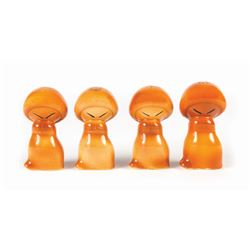 "Collection of (4) ""Fantasia"" Salt & Pepper Shakers."