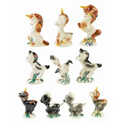 "Collection of ""Fantasia"" Unicorn & Pegasus Figures."
