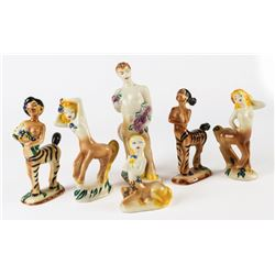 "Collection of Vernon Kilns ""Fantasia"" Centaur Figures."