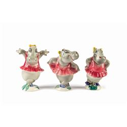 "Collection of Vernon Kilns ""Fantasia"" Hippo Figures."