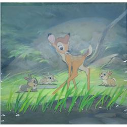 """Bambi"" Original Production Cel and Background."