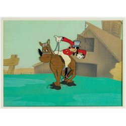 "Original Production Cel from ""How to Ride a Horse""."