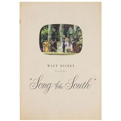 """Song of the South"" Production History Booklet."