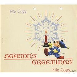1948 Walt Disney Studio Christmas Card.