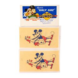 Set of Vintage Mickey Mouse Promotional Items.