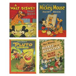 Collection of (4) Disney Paint Books.