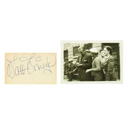 Walt Disney Signature and Photograph.
