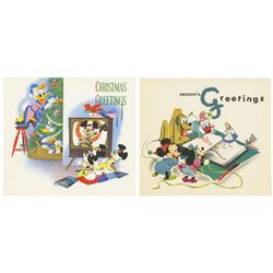 1950s Walt Disney Studio Christmas Cards.