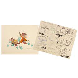 Multi-Signed  Cinderella  Promotional Print.