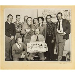 Multi-Signed Walt Disney Studio Employee Photo.