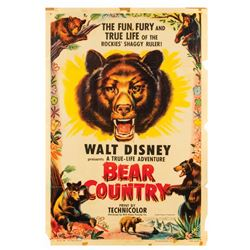"Walt Disney's ""Bear Country"" Movie Poster."