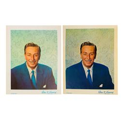 Pair of Walt Disney Fan Cards.