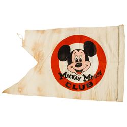 Walt Disney Studio  Mickey Mouse Club  Flag.