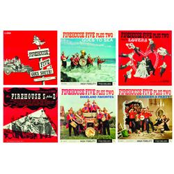 """Collection of (6) """"Firehouse Five Plus Two"""" Records."""