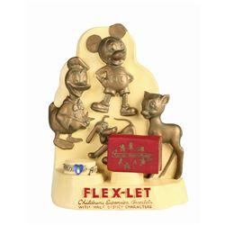 Ceramic Flex-Let Display of Disney Character Bracelets.