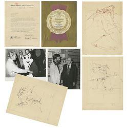 Disney Legend Ken Anderson Documents & Illustrations.