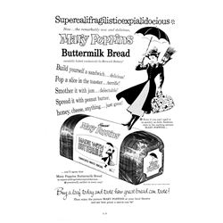 """""""Mary Poppins"""" Bread Advertisement."""