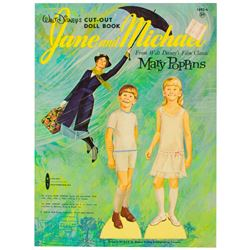 Mary Poppins Cut-Out Doll Book with Jane and Michael.