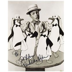 """Dick Van Dyke Signed """"Mary Poppins"""" Publicity Photo."""