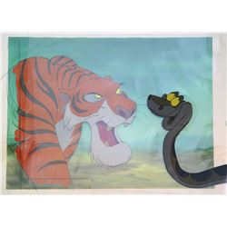 """Production Cel & Background from """"The Jungle Book""""."""