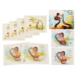 "Set of Frank Thomas ""Jungle Book"" Litho Color Studies."