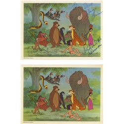 """Pair of Signed """"The Jungle Book"""" Fan Cards."""
