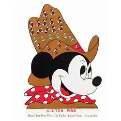 Disney Characters Pins Store Display.