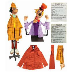"""""""The Sleuth"""" and """"Professor Nefarious"""" Puppets."""