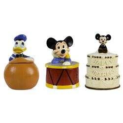 Collection of (3) Ceramic Cookie Jars.