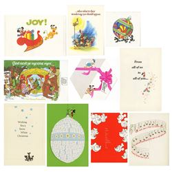 1970s Walt Disney Studio Christmas Cards.
