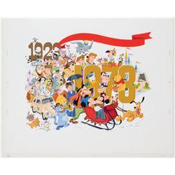 Disney 50th Anniversary Original Painting.