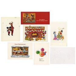 1980s Walt Disney Studio Christmas Cards.