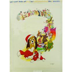 Original Artwork for Disney Posters & Christmas Card.
