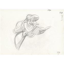 """Glen Keane """"The Little Mermaid"""" Production Drawing."""