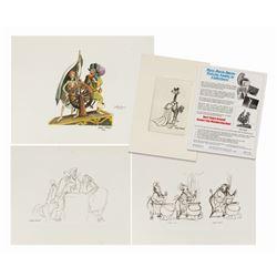 Set of 4 Marc Davis Concept Art Prints.