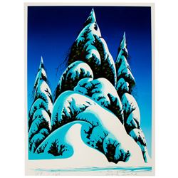 Eyvind Earle Signed Christmas Card for Frank Thomas.